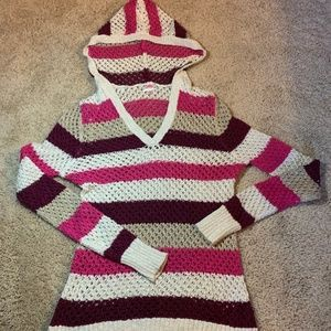 Justice Knit Hooded Sweater